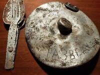 "WW2 Soviet Utensils & TRENCH ART kitchen ""Military Intelligence"" lid STALINGRAD"