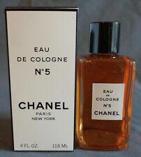 Vintage Chanel No 5 Eau de Cologne Splash 4 Oz Boxed New