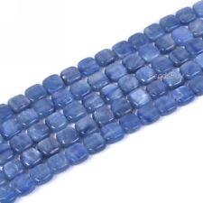 "0155  8mm Blue Kyanite square loose gemstone beads 16"""