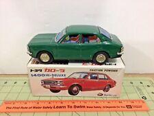 vintage Japan tin friction green Buriki-ya Toyota Corolla 1400 Hi-Deluxe car NIB
