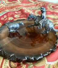 STERLING SILVER WESTERN SCULPTURE ART- DON KIMBLE- COWBOY ROPING
