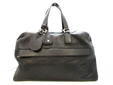 Auth GUCCI Carry On Duffel 322055 Black Leather Boston Bag