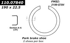 Parking Brake Shoe-Premium Parking Brake Shoes Centric 110.07840