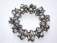 Stunning Antique Victorian Aurora Borealis Crystals Bracelet in Various Shades