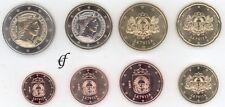 Lettland alle 8 Münzen 1 Cent - 2 Euro Kursmünzenset KMS 2014
