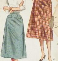 Vintage 1 Yard Slim Skirt Sewing Pattern Waist 28 Hip 37 inches Simple To Make