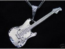 LOOK Electric Guitar Authentic Solid Sterling Silver .925 Pendant Charm Music Je