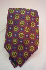 NEW ALTEA MILANO 100% SILK HAND MADE MEN'S TIE  MADE IN ITALY