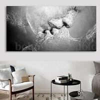 Black&White Love Kiss Abstract Art Canvas Oil Picture Painting Print Wall Decor