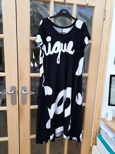 RUNDHOLZ BLACK LABEL  BLACK AND IVORY PRINT DRESS -SIZE LARGE -BNWT/RECEIPT £210