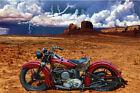 Indian American Motorcycle Vintage Flathead Route 66 Sturgis Biker Art