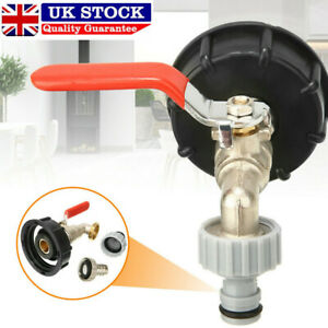 """IBC  water tank outlet Adapter with Brass Tap +1/2"""" Snap On Hose Connector Valve"""