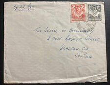 1952 Northern Rhodesia Airmail Cover To School Of Accountancy Glasgow Scotland
