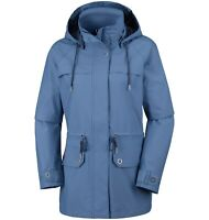 COLUMBIA Women's REMOTENESS Hooded Outdoor Jacket, Blue Dusk, size L