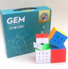"A set /4Pcs Shengshou ""gem"" Magic Cube Speed  Puzzle Stickerless Toy Gift"