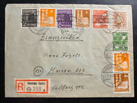 1948 Murnau Germany Registered Postwar Cover Domestic b