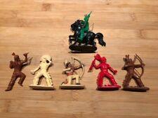 6 indians vintage plastic figures West Germany / Jean Hoefler