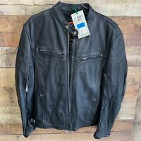 2 XL Womans Black Leather Gun Pocket Vented Motorcycle Jacket 6545