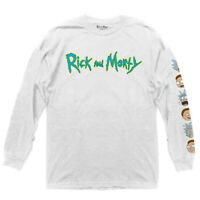 Rick and Morty Mens T-Shirt Classic White Size Medium M Graphic Tee $26- 190
