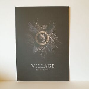 Resident Evil 8 Village Collectors Art print Gloss Official A4 Size Chris NEW.
