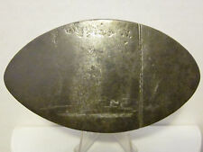 Antique 18th Century Oval Tin Snuff Box,Engraved Hunting Scene On Top