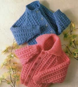 Baby Chunky  Knitting Pattern Cardigan and Jacket Sizes 22  - 28 inches #155
