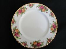 "ROYAL ALBERT Old Country Roses Dinner Plate 10 1/4"" Old Backstamp Fluted England"
