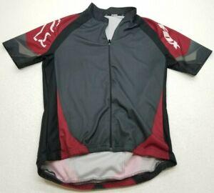 Fox Cycling Jersey Mens Large Black/Gray/Maroon Bike