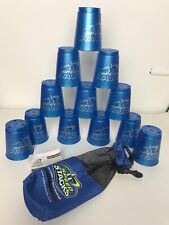 Royal blue SPEED STACKS Cup Stacking Game by Flying cup~ 12 Cups w// Storage Bag