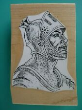 Knight in Armor, Profile BEESWAX Rubber Stamp