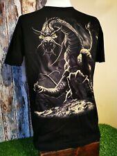 Hot Rock Gothic Dragon Print 100% Cotton T-shirt Size Large.