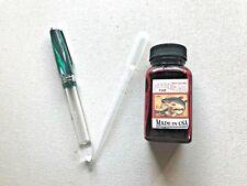 New Acrylic Eyedropper fountain pen + eyedropper + INK   SMOOTH F
