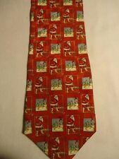 "Holiday Traditions Hallmark Blue Red White Christmas Santa Golfing Tie 57.5"""