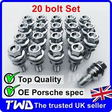 20x WHEEL BOLTS PORSCHE 911 996 997 991 (OE STYLE) ALLOY LUG NUT STUD SET [T50]