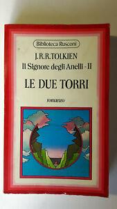 LE DUE TORRI Il Signore Degli Anelli vol 2 JRR Tolkien Biblioteca Rusconi 1974