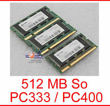 512 MB QIMONDA So DIMM DDRAM PC333 PC2700 FSC FUTRO S400 PC2700S-2533-1-A1 PC400