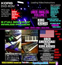 Korg Kronos Uber Analog & Americana Analog Synthesizer Sound Samples DVD-ROM A+