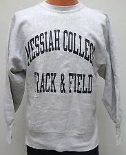 vtg MESSIAH COLLEGE TRACK & FIELD Champion Reverse Weave 90s SWEATSHIRT L warmup