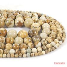 Natural African Queen Picture Jasper Beads 15.5'' 2mm 3mm 4mm 6mm 8mm 10mm 12mm