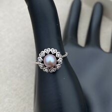 Vantel Pearls Follow Your Heart Sterling Silver Ring Size 7