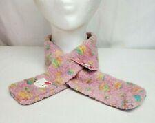 1998 Sanrio HELLO KITTY Pink Fleece EMBROIDERED Winter Scarf NECK WRAP Rare NEW