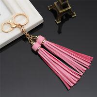 Cute Leather Tassel Key Ring,Handbag Purse Bag Pendant Charm Gift 8C