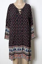 Kleid Gr. S/M schwarz-bunt Hippie India Ornament Paisley Kleid