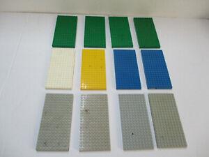 29# B-Ware / Defekt LEGO 12 Dicke Platten 10x20 grün grau blau rot gelb Konvolut