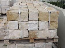 Sandstein Mauersteine bossiert 20/20/40 cm, Gartenmauer Trockenmauer 30 Stk.