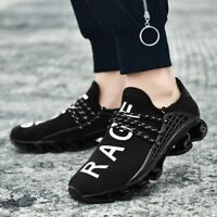Men Casual Shoes Flying Weaving Sneakers Running Breathable Sports Lace Up Flats