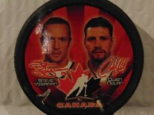 McDonalds 2002 Salt Lake City Olympic Hockey Puck, Steve Yzerman, Owen Nolan
