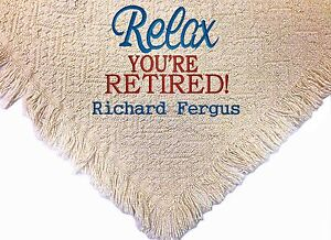 Personalized Embroidered Retirement Throw Blanket ~  Retirement Throw  ~