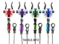 3 Adjustable Fishing Tackle Rod Rest & 3 Bobbins Indicators For Bite Alarms Pods