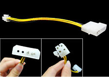 2 Pin Molex IDE to 4 Pin ATX P4 12V Power ATX Connector Cable Adapter